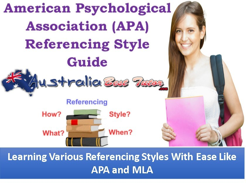 Learning Various Referencing Styles With Ease Like APA and MLA